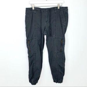 Loft size 10 Faded Grey Jogger Cargo Pants